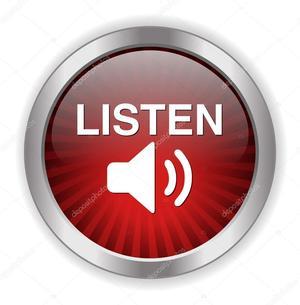 Listen button red